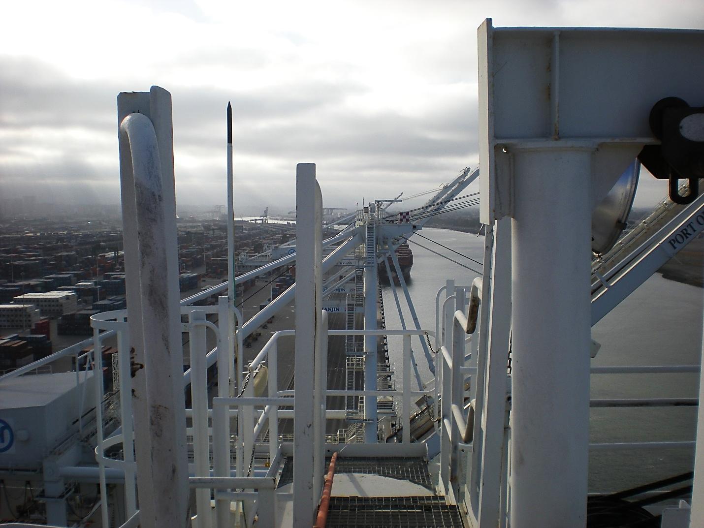 Port of Oakland Berth 55 and Inner Harbor Channel from Atop a Berth 55 Container Crane